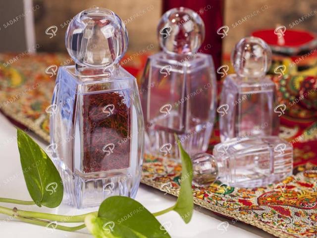 انواع ظرف کریستال زعفران | شرکت صدف پک