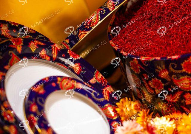 ظروف فلزی زعفران | شرکت صدف پک