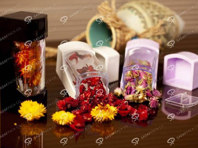 انواع ظروف بسته بندی زعفران   شرکت صدف پک