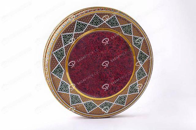 ظرف خاتم فلزی زعفران | شرکت صدف پک