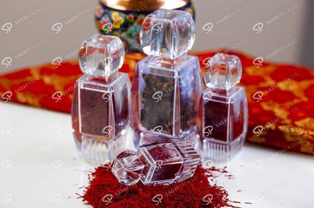 ظروف بسته بندی پلی کریستال زعفران | شرکت صدف پک