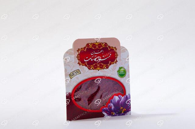 پاکت های مقوایی بسته بندی زعفران   شرکت صدف پک