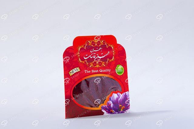 پاکت های بسته بندی زعفران | شرکت صدف پک