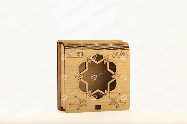 ظروف چوبی بسته بندی زعفران | شرکت صدف پک