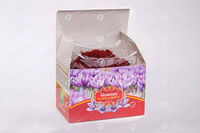 بسته بندی مادر برای زعفران صادراتی   شرکت صدف پک