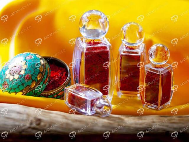 ظروف کریستالی زعفران | شرکت صدف پک