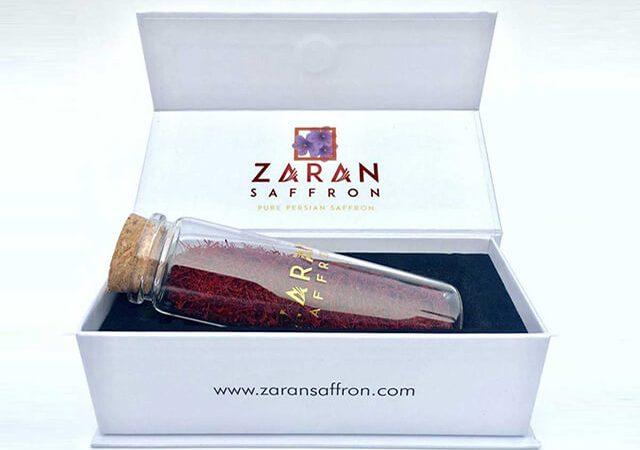 بسته بندی شیشه ای با باکس مقوایی زعفران اسپانیا | شرکت صدف پک