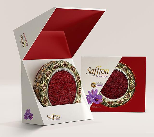 چاپ باکس های مقوایی زعفران | شرکت صدف پک