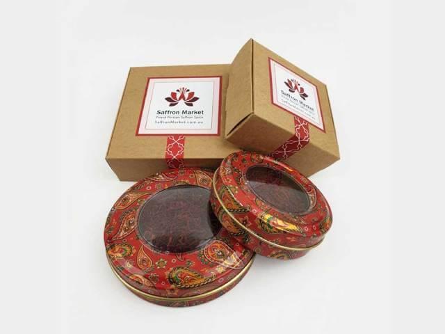 ظروف بسته بندی فلزی زعفران | شرکت صدف پک