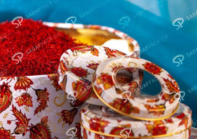 ظرف بسته بندی زعفران ساخته شده از فلز | شرکت صدف پک