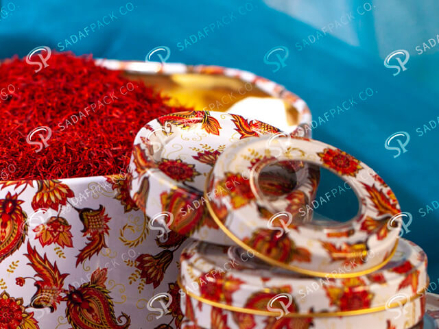 ظرف بسته بندی زعفران ساخته شده از فلز   شرکت صدف پک