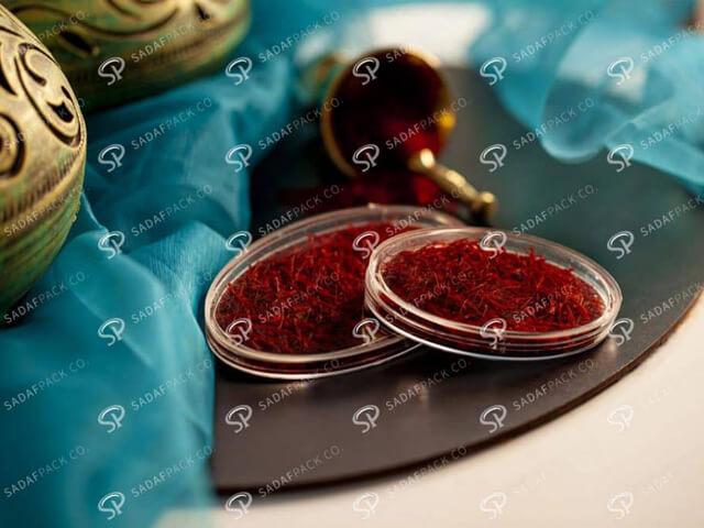 طرح بسته بندی زعفران | شرکت صدف پک