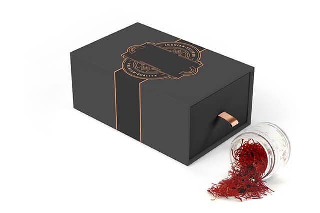 جعبه بسته بندی زعفران | شرکت صدف پک