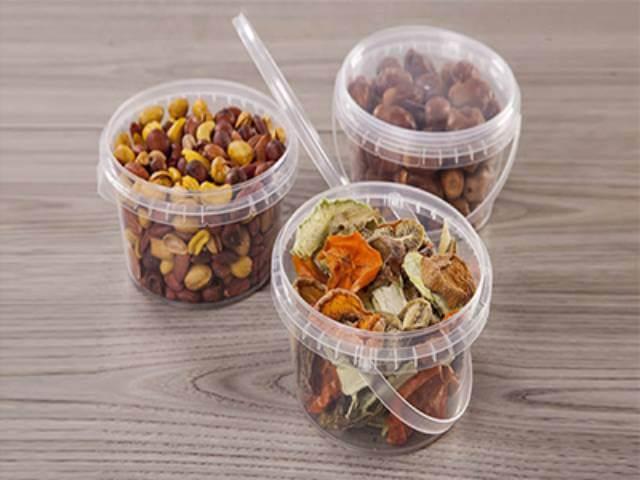 ظروف پلاستیکی بسته بندی خشکبار | شرکت صدف پک