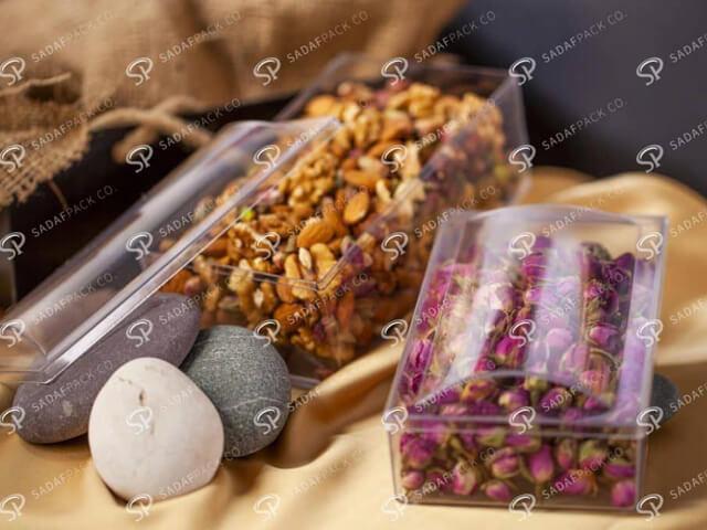 انواع ظروف بسته بندی خشکبار   شرکت صدف پک