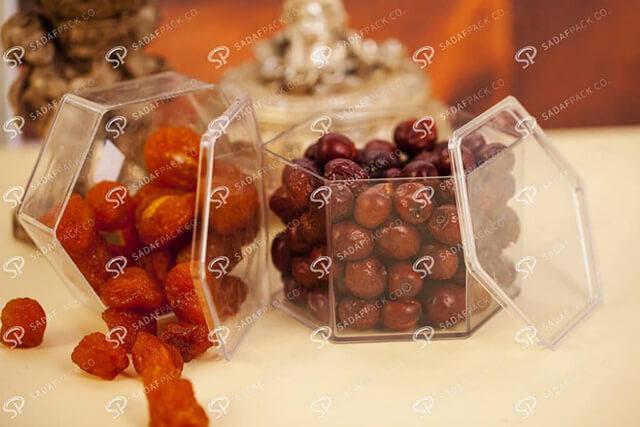 جعبه های پلی کریستال بسته بندی خشکبار | شرکت صدف پک