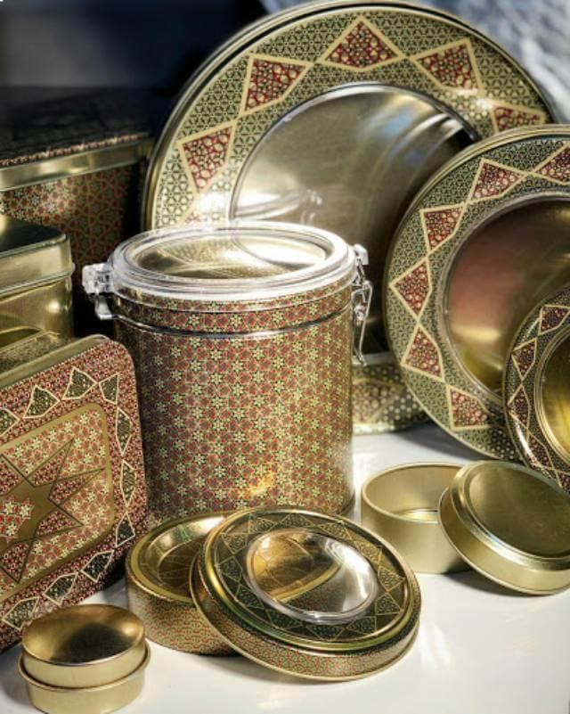 ظروف فلزی بسته بندی زعفران | صدف پک