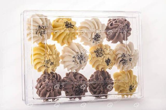 بسته بندی های پلی کریستال شیرینی   شرکت صدف پک
