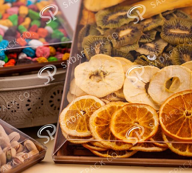 بسته بندی پلی کریستالی میوه خشک | شرکت صدف پک