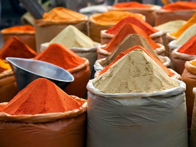 بازار های فروش ادویه و زعفران در هند   شرکت صدف پک