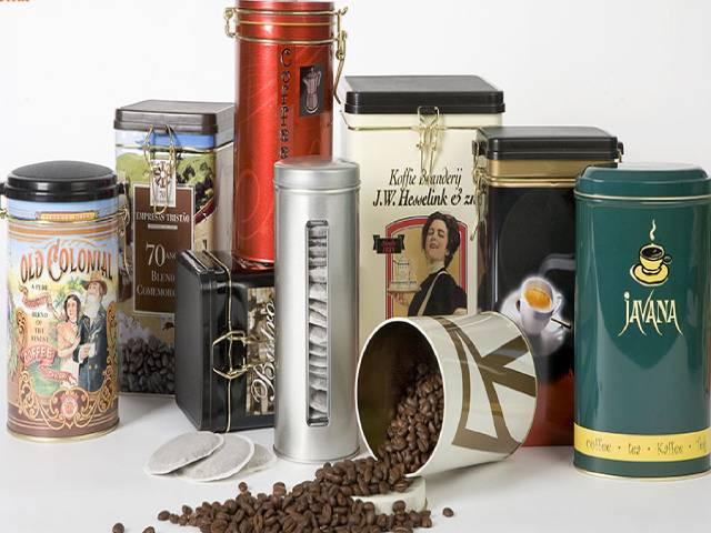 قوطی فلزی قهوه و چای   صدف پک