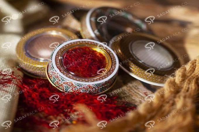 ظرف خاتم کاری شده زعفران | شرکت صدف پک