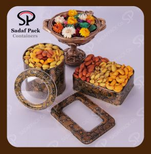 ظروف فلزی بسته بندی آجیل و خشکبار